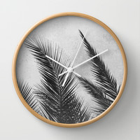 Palm Leaves 2 Wall Clock by Mareike Böhmer Photography