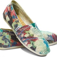 Toms Classic - Printed Crochet Slip-On Shoes