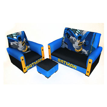 Batman Deluxe Toddler Sofa, Chair And Otto Furniture Set