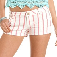 Dollhouse Striped Denim Short: Charlotte Russe