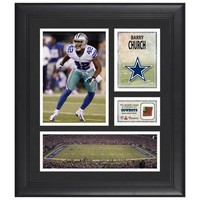 Barry Church Dallas Cowboys Framed 15'' x 17'' Collage with Game-Used Football