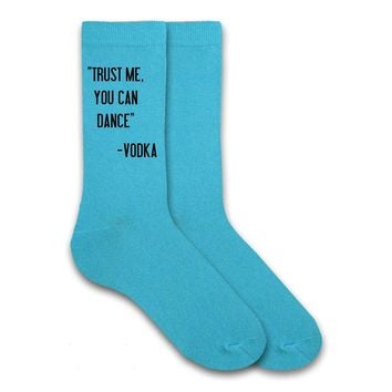 Trust Me You Can Dance - Funny Socks - Humorous Men's Gift Socks