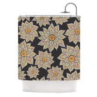 """Pom Graphic Design """"Floral Dance in the Dark"""" Shower Curtain, 69"""" x 70"""" - Outlet Item"""