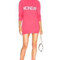 ALBERTA FERRETTI Tuesday Crewneck Sweater Dress in Pink & Light Pink | FWRD