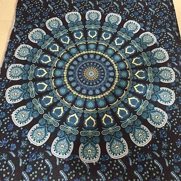 New Arrival Bohemian Rectangle Hippie Tapestry Beach Throw Roundie Towel Yoga Mat
