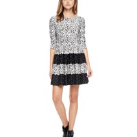 Pitch Black/Angel Printed Ponte Dress by Juicy Couture,
