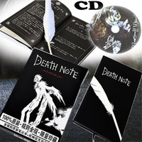 3 in 1 Stationery Set Death Note Notebook With Feather Pen&CD Leather Cover&Ruled Page Light Yagami Ryuk Supernatural God Books