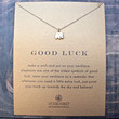 """dogeared 'reminder good luck elephant necklace', 16"""" gold dipped"""