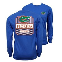 Southern Couture Florida Gators Preppy Frame Logo Long Sleeve T-Shirt