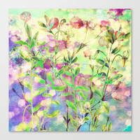 simple flowers Stretched Canvas by clemm