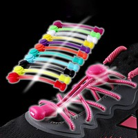 Stretching Lock Lace A Pair Of Locking Shoe Laces Elastic Sneaker Shoelaces Shoestrings Running/Jogging/Triathlon
