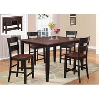 8202 Black & Cherry Pub Dining Room Set