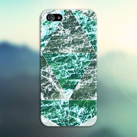 Geometric Green Waves x Beach Foam Phone Case for iPhone 6 6 Plus iPhone 5 5s 5c 4 4s Samsung Galaxy s5 s4 & s3 and Note 5 4 3