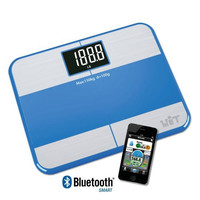 WiTscale S1F Bluetooth Smart Bathroom Scale Body Fat w/ Large Backlit Display and Step-On Technology for Galaxy S6, Note5, iPhone6S(support Apple HealthKit), iPad air 2