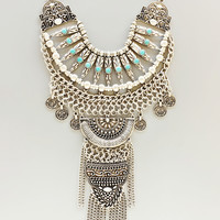 Antiqued Alexandria Statement Necklace - Handcrafted in NYC