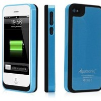 Alpatronix MFi Apple Certified BX100 1900mAh iPhone 4/4S Battery Charging Case (Ultra Slim Removable Extended Battery, Fits all models of Apple iPhone 4/4S - Retail Packaging) - Blue/Black