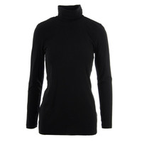DKNY Womens Knit Solid Turtleneck Top