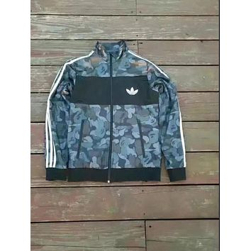 Bape cooperation Adidas clover men's casual wild paragraph Camouflage blue