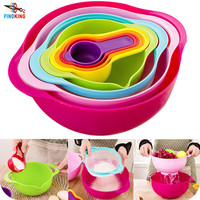 FINDKING brand high quality mother day gift 8 piece in one set Multicolor creative kitchenware set kitchen Bowl set kitchen tool