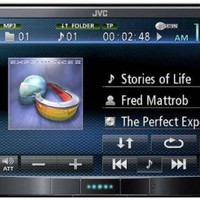 JVC Bluetooth DVD/CD/USB/SD Receiver with 7-inch WVGA Touch Panel Monitor (KW-AV70BT)