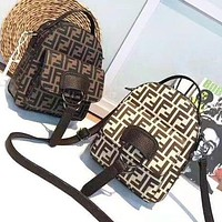 Fendi New fashion more letter print backpack bag women