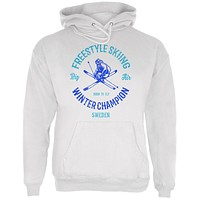 Winter Games Freestyle Skiing Champion Sweden Mens Hoodie