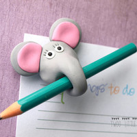 funny fridge magnet, elephant fridge magnet, elephant magnet, polymer clay magnet, fimo fridge magnet