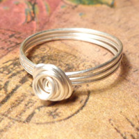 Sterling Silver Wire Ring Designs, Custom Ring, Size 2 3 4 5 6 7 8 9 10 11 12 13 14, Wire Wrap Jewelry Handmade, Bridesmaid Gift Jewelry
