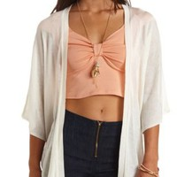 Chevron-Textured Dolman Cardigan Sweater by Charlotte Russe