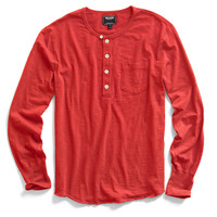 Red Pocket Henley
