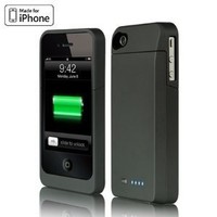 Luxmo Maxboost Battery Charger Power Case and Screen Protector for Iphone 4s
