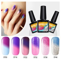 Nail Gel Polish Make Up Changing Color With Temperature Nail Gel Polish Chameleon Nail Gel UV Total 25 Colors