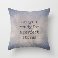Perfect Storm Throw Pillow by alterEGO - Katy Perry Dark Horse