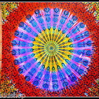 Mandala Tapestry Wall Hanging Queen Size Indian Boho Hippie Bohemian Ombre