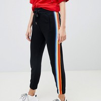 Bershka rainbow stripe sweatpants at asos.com