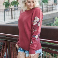 Ruby Rose Embroidered Sweater