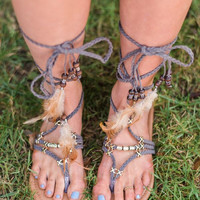Feather Together Wrap Sandal