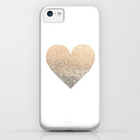 GATSBY GOLD HEART iPhone & iPod Case by Monika Strigel