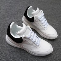 Mcqueen Women's Leather Sneakers Shoes