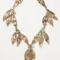 Gilded Folia Necklace by Anthropologie Gold One Size Necklaces