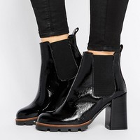 River Island Cleated Sole Heeled Boots at asos.com