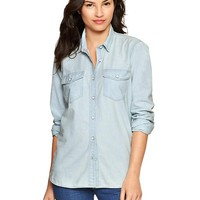 Gap Women 1969 Chambray Boyfriend Shirt