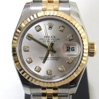 ROLEX Datejust Watch 179173 G Automatic White system Stainless steel