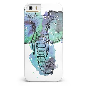 African Sketch Elephant iPhone 5/5s or SE INK-Fuzed Case