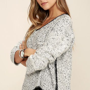 Straight Shooter Grey Sweater