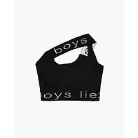 Boys Lie Bralette - Black