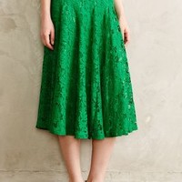 Grass-Lace Midi Skirt by Champagne & Strawberry Kelly