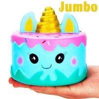 Jumbo Narwhal Cake Squishy Cute Unicorn Mousse Squishies Cream Scented Slow Rising Kids Toys Doll Stress Relief Toy
