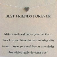 Sterling Silver BEST FRIENDS Necklace, Charm Necklace, Bridesmaid gift