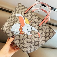 GUCCI & Dumbo New fashion elephant more letter leather shoulder bag handbag